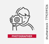 photographer   line design... | Shutterstock .eps vector #779259526
