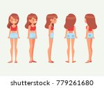 pretty girl for animation.... | Shutterstock .eps vector #779261680