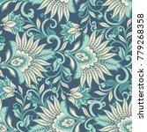 vintage flowers seamless...   Shutterstock .eps vector #779268358