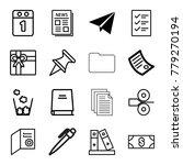 paper icons. set of 16 editable ... | Shutterstock .eps vector #779270194