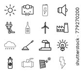 energy icons. set of 16... | Shutterstock .eps vector #779270200