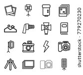 photograph icons. set of 16... | Shutterstock .eps vector #779270230