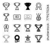 reward icons. set of 16... | Shutterstock .eps vector #779270266