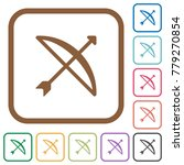 bow with arrow simple icons in... | Shutterstock .eps vector #779270854