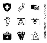 aid icons. set of 9 editable... | Shutterstock .eps vector #779270920