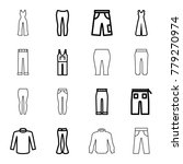 jeans icons. set of 16 editable ... | Shutterstock .eps vector #779270974