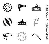 blow icons. set of 9 editable... | Shutterstock .eps vector #779271019