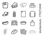 bread icons. set of 16 editable ... | Shutterstock .eps vector #779271040