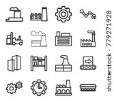 factory icons. set of 16... | Shutterstock .eps vector #779271928