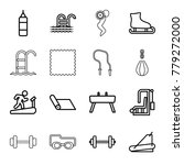 exercise icons. set of 16... | Shutterstock .eps vector #779272000