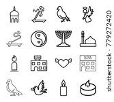 religion icons. set of 16... | Shutterstock .eps vector #779272420