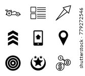 ui icons. set of 9 editable...