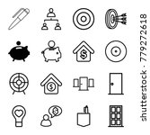 conceptual icons. set of 16... | Shutterstock .eps vector #779272618