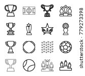championship icons. set of 16... | Shutterstock .eps vector #779273398