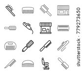 comb icons. set of 16 editable... | Shutterstock .eps vector #779273650