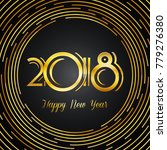 happy new year 2018 greeting... | Shutterstock .eps vector #779276380