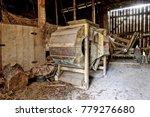 old wooden threshing machine... | Shutterstock . vector #779276680