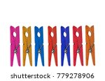 colorful of wood clothespins...   Shutterstock . vector #779278906
