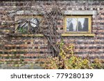 old garage window covered with... | Shutterstock . vector #779280139