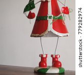 Small photo of christmas santa shoe