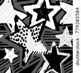 star shapes graffiti seamless... | Shutterstock .eps vector #779285584