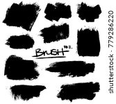 collection of brush strokes ... | Shutterstock .eps vector #779286220