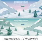 landscape with mountain peaks.... | Shutterstock .eps vector #779289694