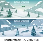 landscape with mountain peaks.... | Shutterstock .eps vector #779289718