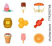 confectionery shop icons set.... | Shutterstock .eps vector #779295748