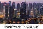 dubai marina harbor with boats... | Shutterstock . vector #779300089