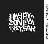 happy new year celebrations.  | Shutterstock .eps vector #779301640