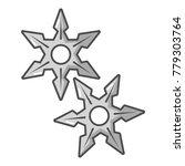 ninja stars icon. cartoon... | Shutterstock .eps vector #779303764