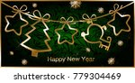 greeting the new year with a... | Shutterstock .eps vector #779304469