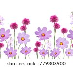 seamless floral pattern on... | Shutterstock . vector #779308900