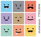 emotions icons colors  happy ... | Shutterstock .eps vector #779313046