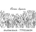 vector card with hand drawn... | Shutterstock .eps vector #779316634