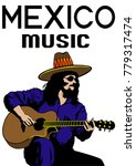 musician with guirar in country ... | Shutterstock .eps vector #779317474