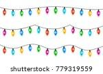 christmas lights isolated on ... | Shutterstock .eps vector #779319559