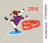 vector postcard for new year... | Shutterstock .eps vector #779329894