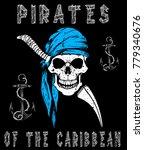 skull pirates graphic design | Shutterstock .eps vector #779340676