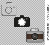 three objects are depicted in... | Shutterstock .eps vector #779343850