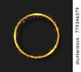 golden frame circle empty on... | Shutterstock .eps vector #779346379