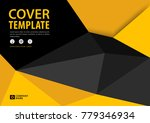 black and yellow cover template ... | Shutterstock .eps vector #779346934