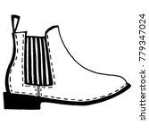 unisex chelsea boots sketch....   Shutterstock .eps vector #779347024