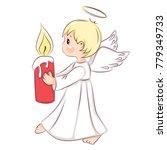 cute little christmas angel. he ...   Shutterstock .eps vector #779349733
