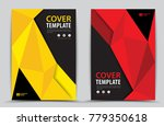 red and yellow cover template... | Shutterstock .eps vector #779350618