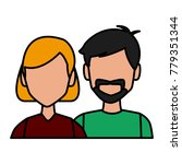 couple avatar cartoon | Shutterstock .eps vector #779351344