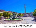 column pedro iv fountain rossio ... | Shutterstock . vector #779365963