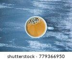 one object fresh glass coffee... | Shutterstock . vector #779366950