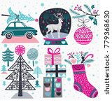 set of winter christmas icons ... | Shutterstock .eps vector #779368630